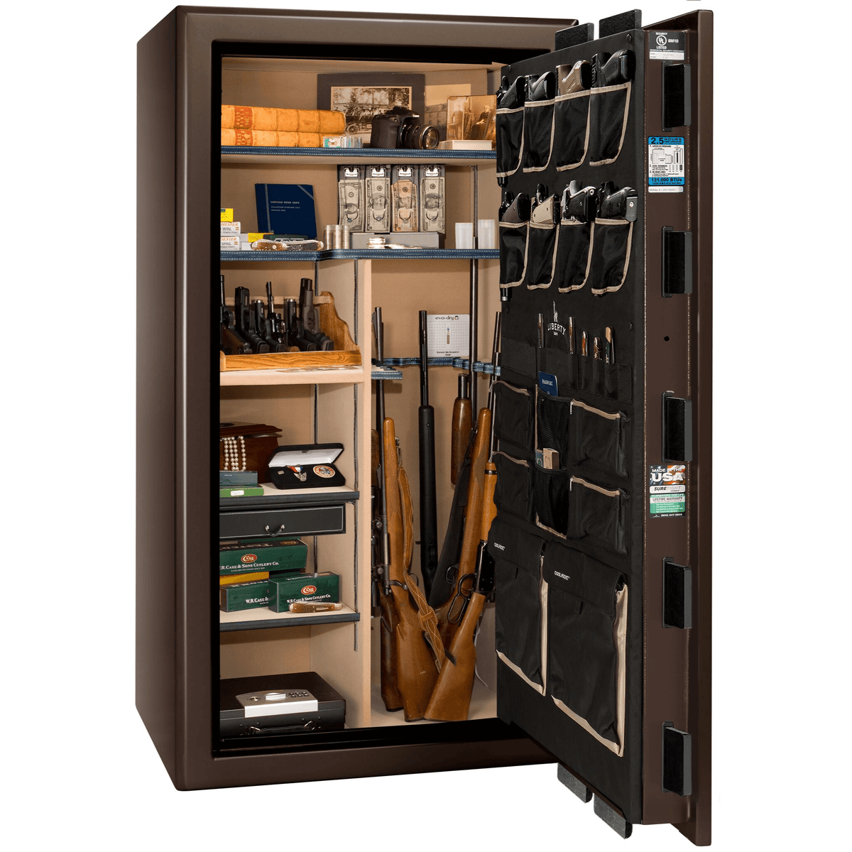 "Presidential | 40 | Level 8 Security | 150 Minute Fire Protection | Bronze Gloss | Black Electronic Lock | 65.5""(H) x 36""(W) x 32""(D)"