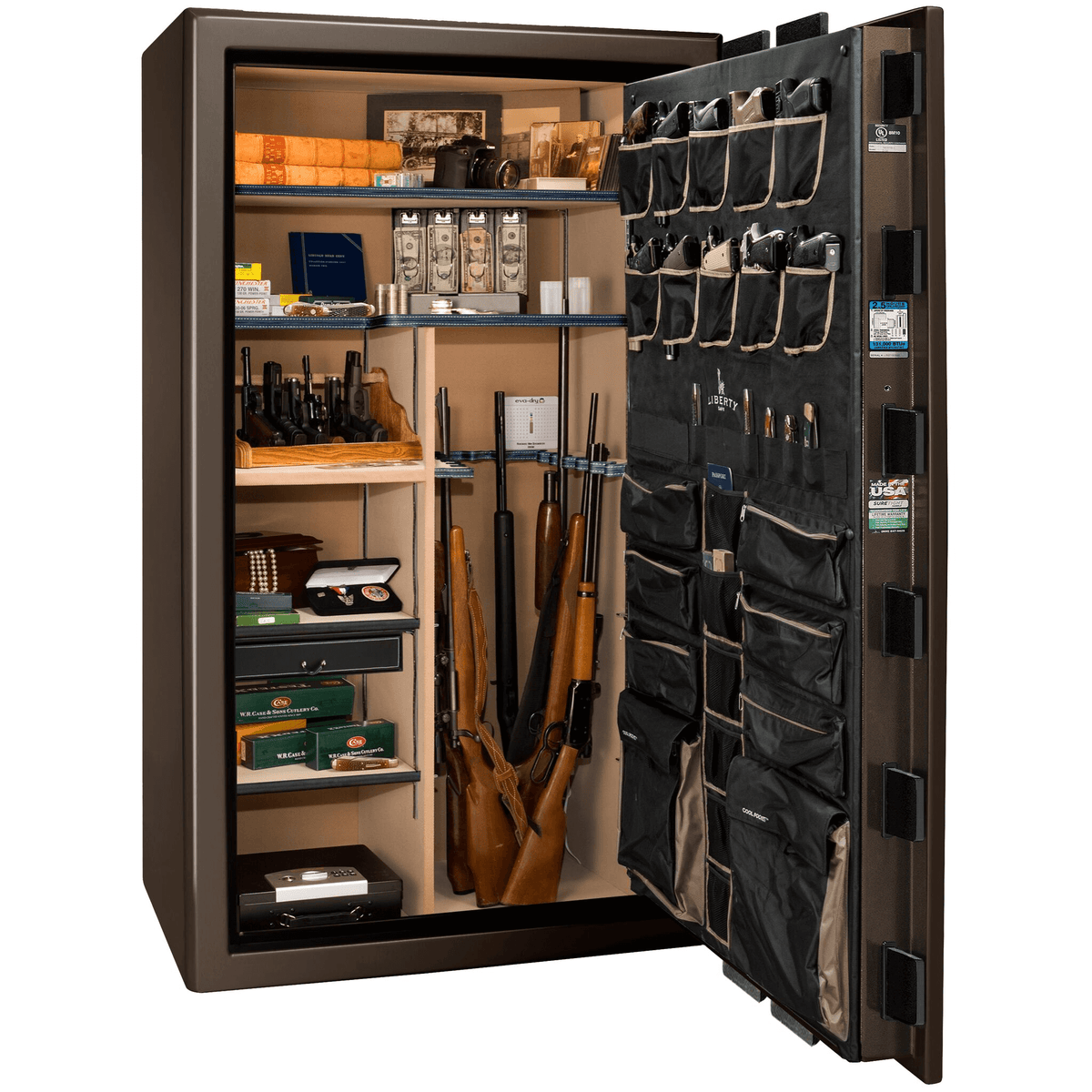 "Presidential | 50 | Level 8 Security | 2.5 Hours Fire Protection | Bronze Gloss | Black Electronic Lock | 72.5""(H) x 42""(W) x 32""(D)"