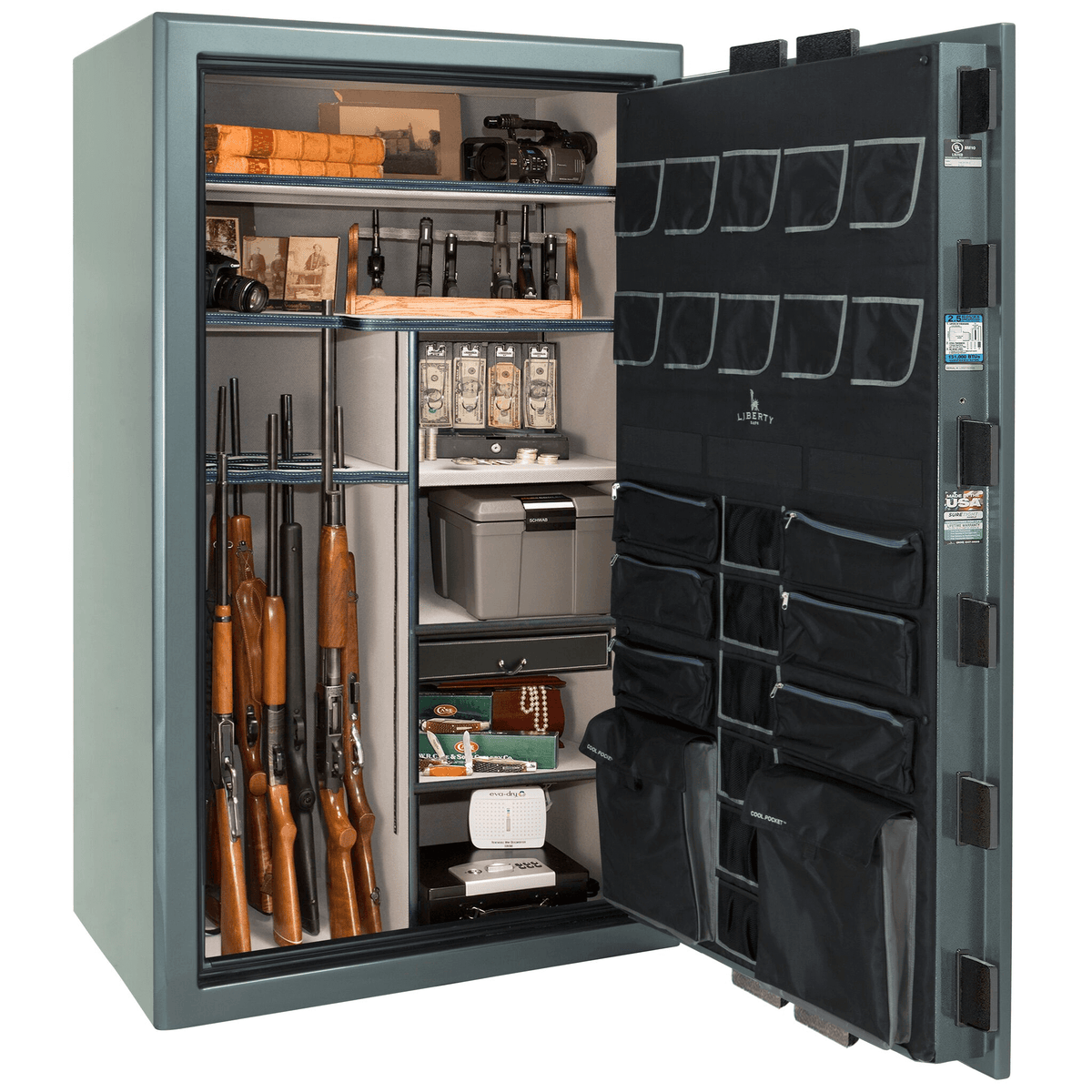 "Presidential | 50 | Level 8 Security | 2.5 Hours Fire Protection | Forest Mist Gloss | Black Electronic Lock | 72.5""(H) x 42""(W) x 32""(D)"