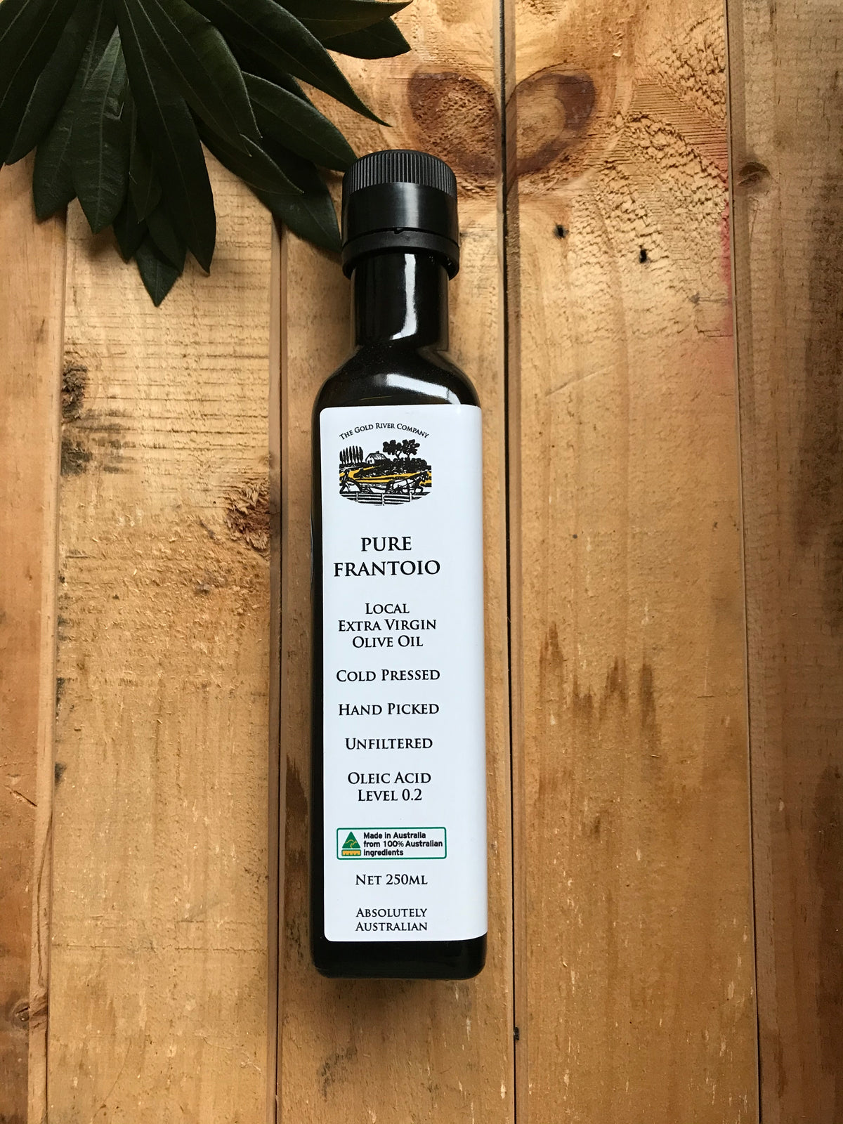 Pure Frantoio Local Extra Virgin Olive Oil 250ml | Vaughans Cafe Deli & Online Store | Inverloch