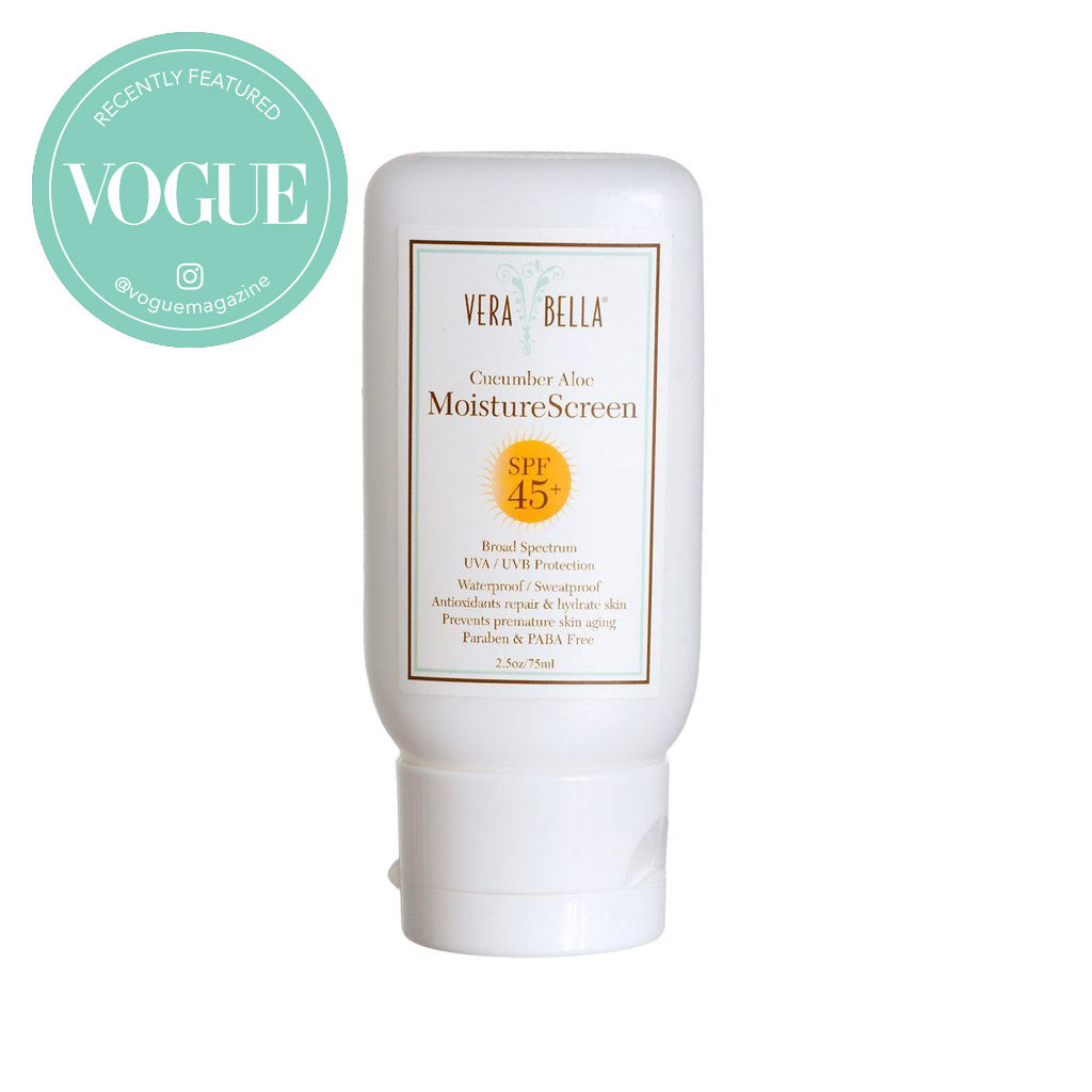 Verabella MoistureScreen Cucumber Aloe - recently featured on Vogue Instagram