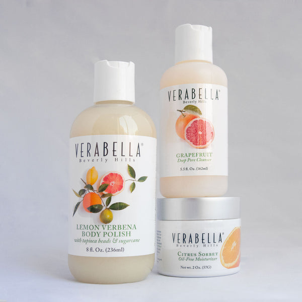 Verabella Citrus Collection skincare bundle