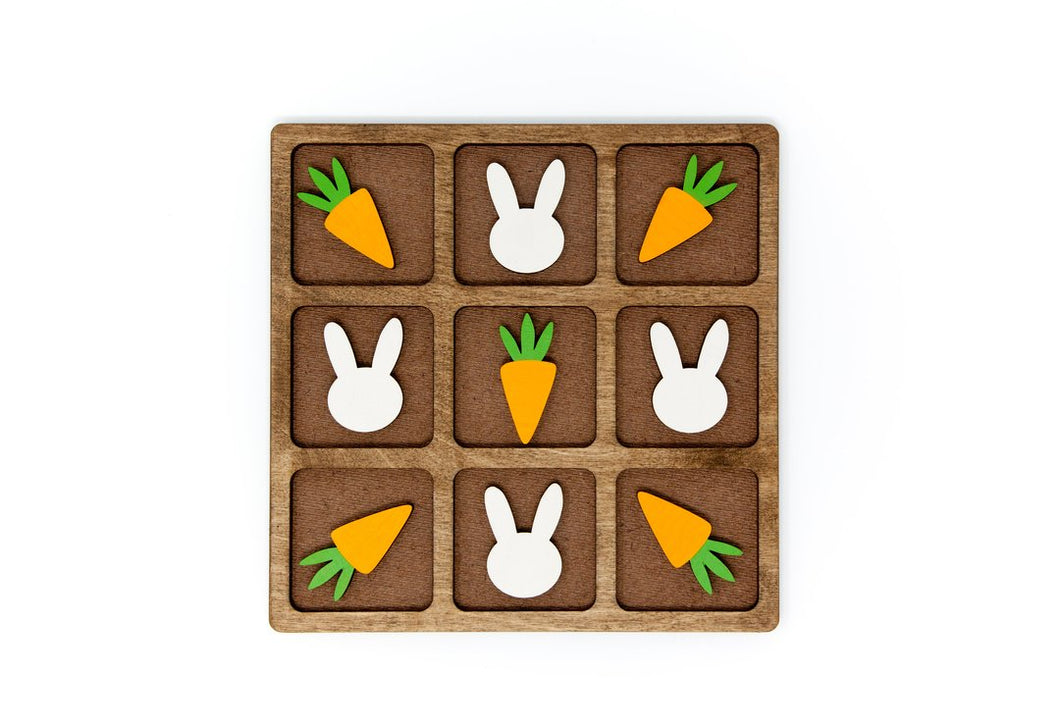 Bunny vs. Carrot Tic-Tac-Toe