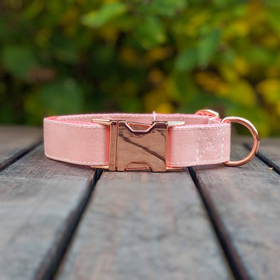 Pink Champagne Dog Collar Rose Gold Collection