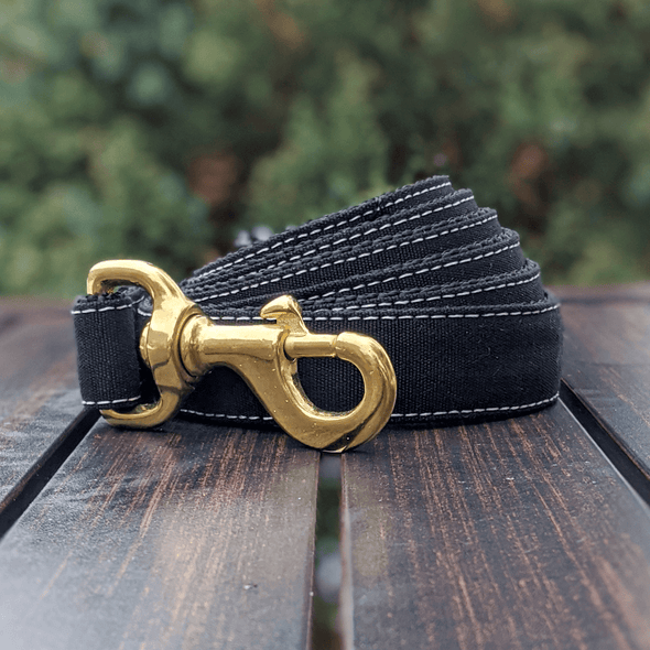 Onyx Dog Leash Gold Collection
