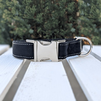 Onyx Dog Collar Silver Collection