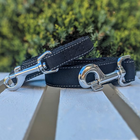 Onyx Dog Leash Silver Collection