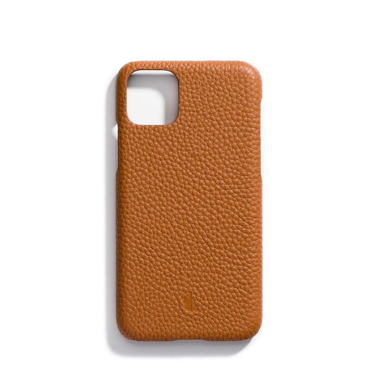caramel-main-brown colored personalized premium leather iPhone 11 phone case