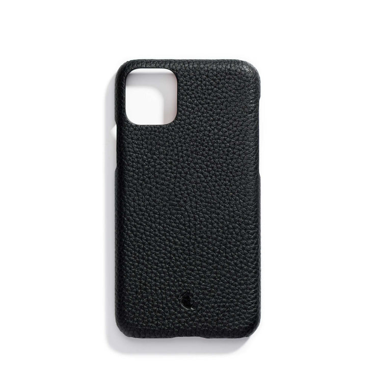 espresso-main-black personalized premium leather iPhone 11 phone case