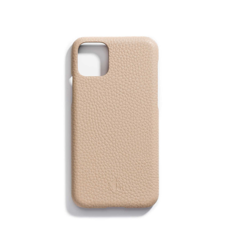 oat-main-tan personalized premium leather iPhone 11 phone case