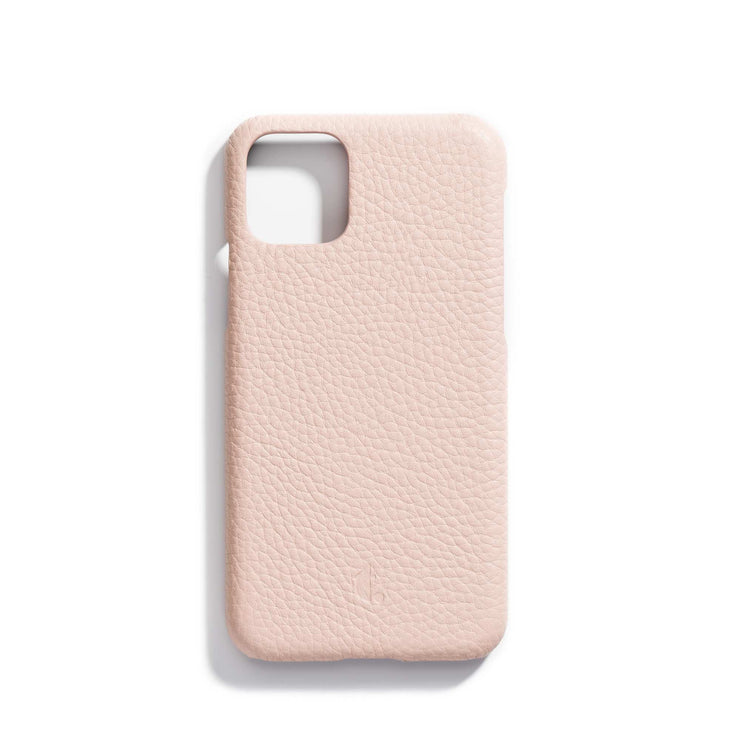 rosewater-main-light pink personalized premium leather iPhone 11 phone case