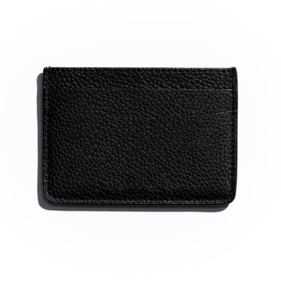 espresso black leather slim wallet to hold cards and can be personalized