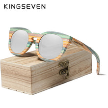 Load image into Gallery viewer, Round Bamboo Sunglasses