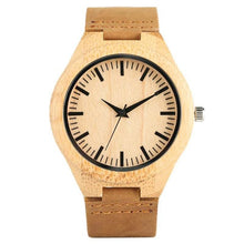 Load image into Gallery viewer, Natural Bamboo Wooden Watch