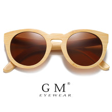 Load image into Gallery viewer, Natural Bamboo Sunglasses Women Polarized
