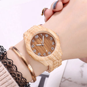 Top Luxury Bamboo Wooden Design Watch Quartz