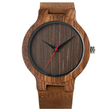 Load image into Gallery viewer, Green Dial Natural Bamboo Wood Watch