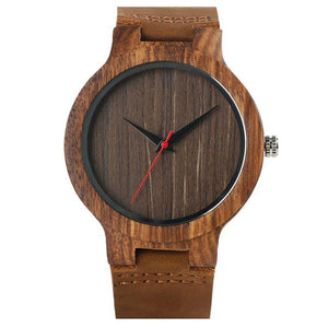 Green Dial Natural Bamboo Wood Watch
