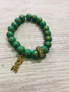 Crackled Green Wristwear