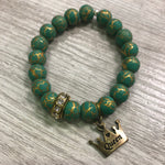 Load image into Gallery viewer, Crackled Green Wristwear