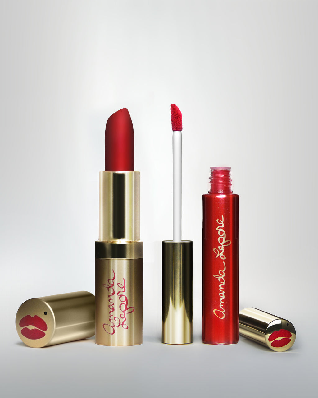 Amanda Lepore Classic Red Lipstick And LipGloss