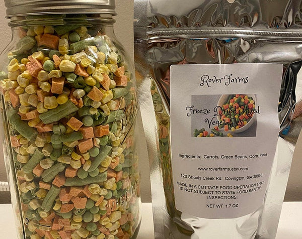 Freeze Dried Mixed Vegetables