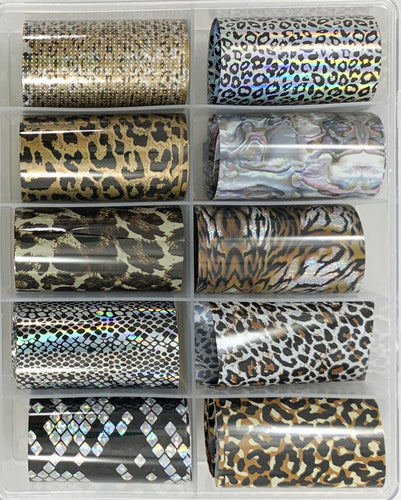 10 pc Animal Prints Foil Transfer Set
