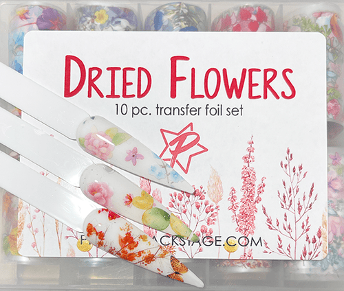 10pc Dried Flowers Transfer Foil - PF