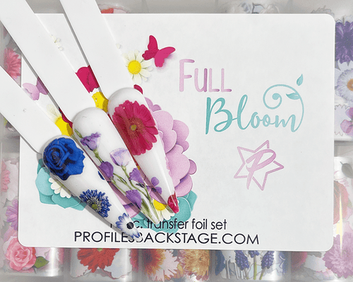10pc Full Bloom Foil Transfer Set