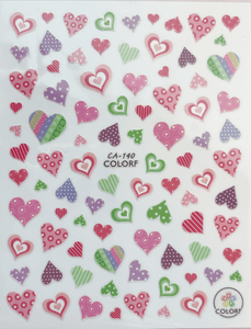 PF Pasties Pastel Hearts Decals