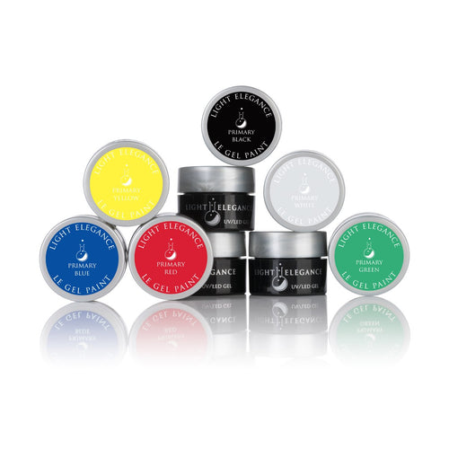 Primary LE Gel Paint Kit - UV/LED - 6 Primary Colors