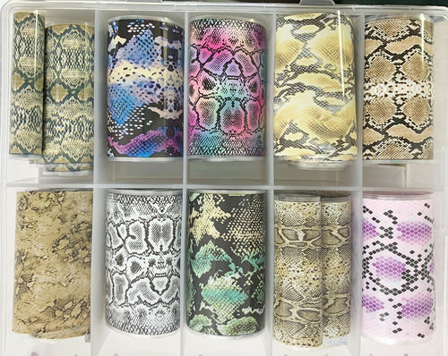 10 pc. Snakeskin Transfer Foil Set