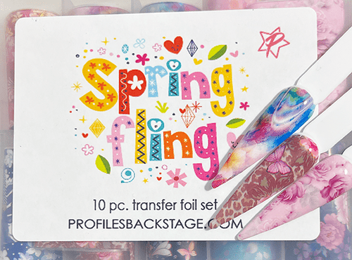 10pc Spring Fling Transfer Foils - PF