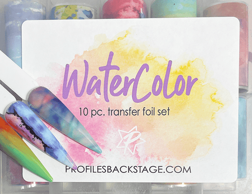10pc WaterColor Transfer Foils - PF