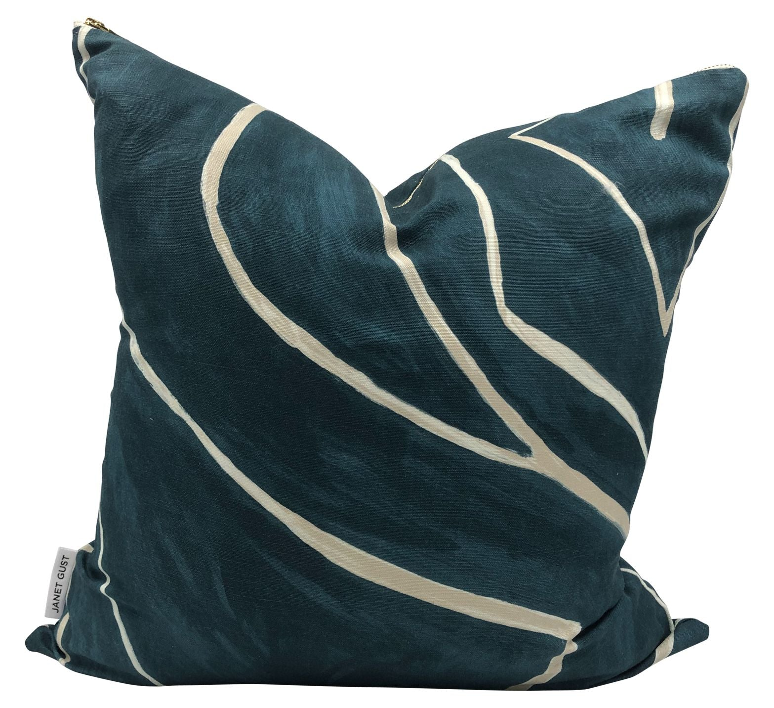 Teal Green Grafitto Pillow