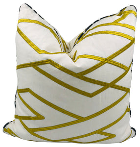 Yellow & White Pinnacle Pillow