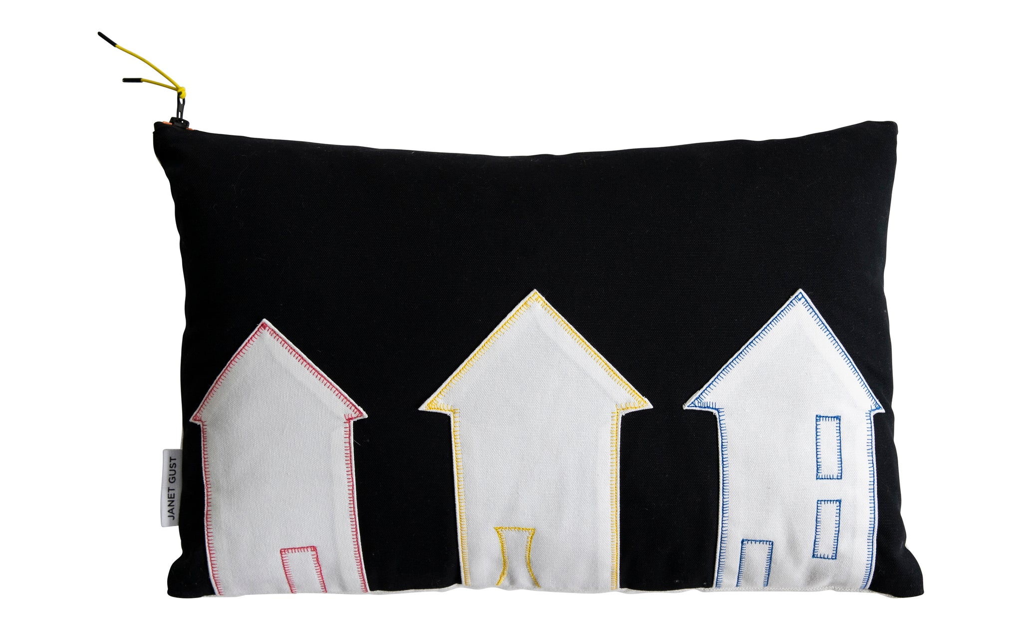 Lucky Dog House Series Style No.9 Black & White Canvas