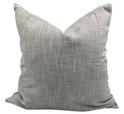 Heavy Grey Linen Pillow