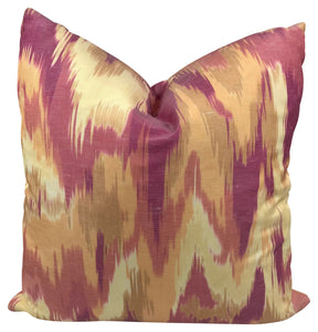 Magenta Olavanna Ikat Pillow