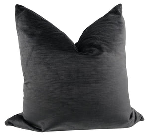 Charcoal Gray Velvet Pillow