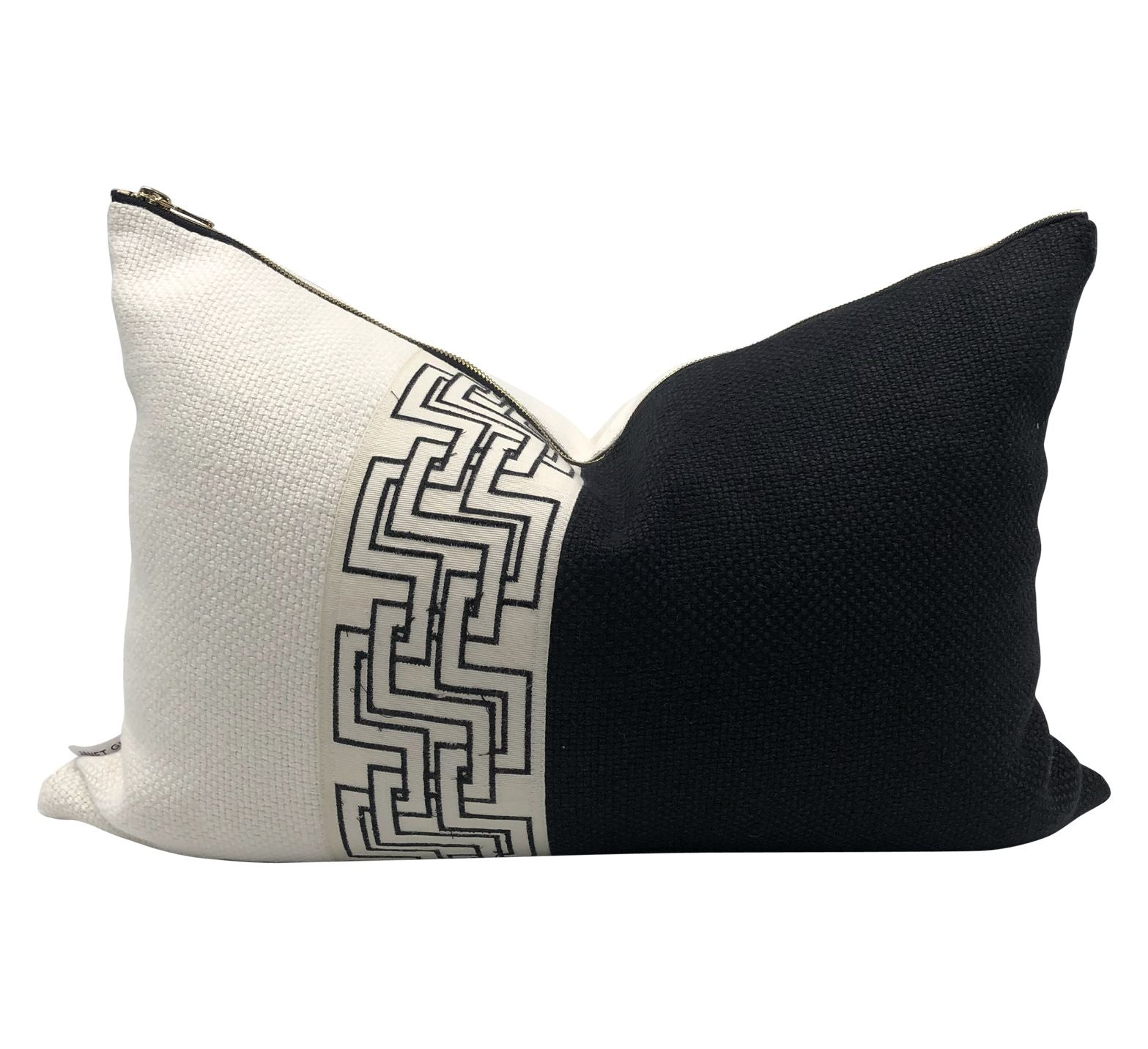 Black & White Greek Key Pillow