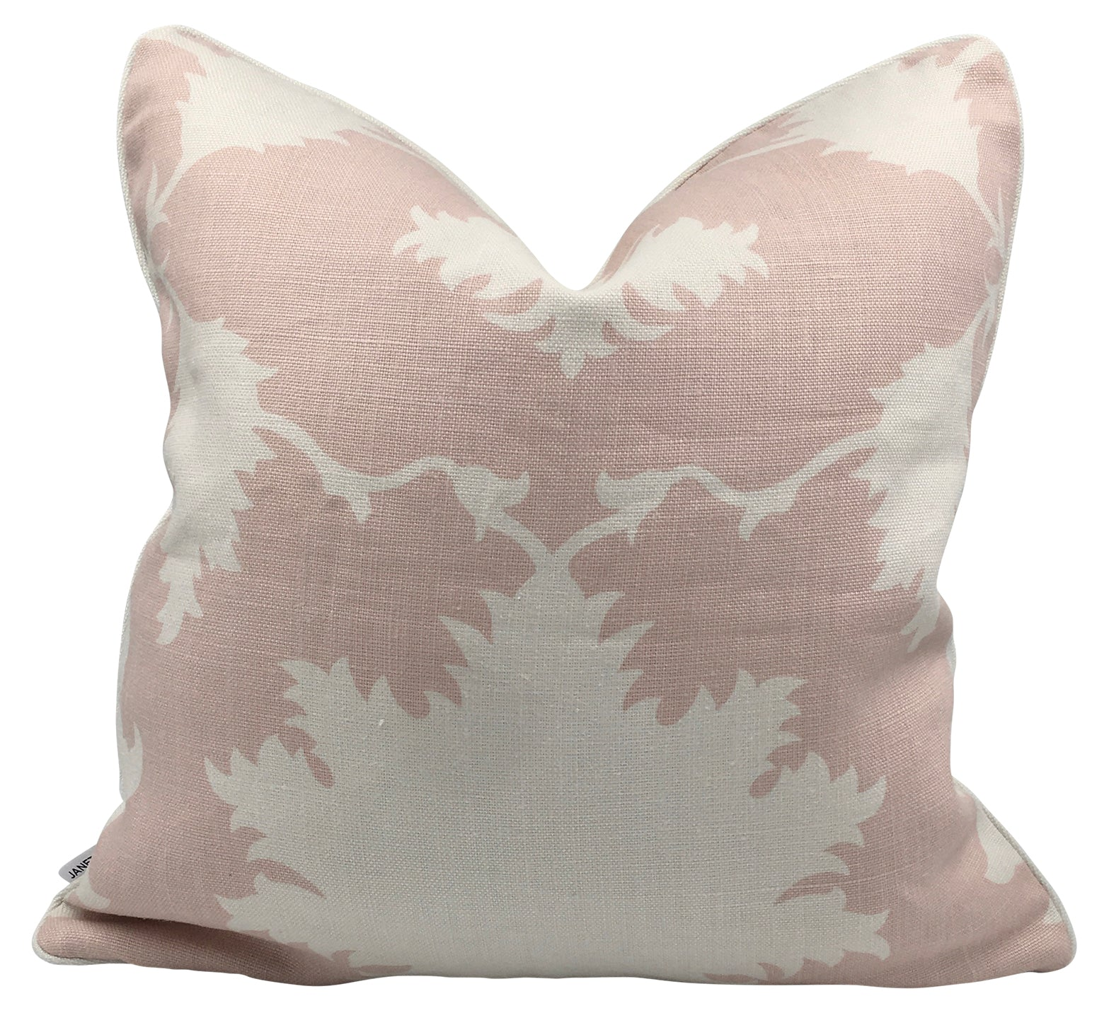 Pink & Creme Lotus Linen Pillow