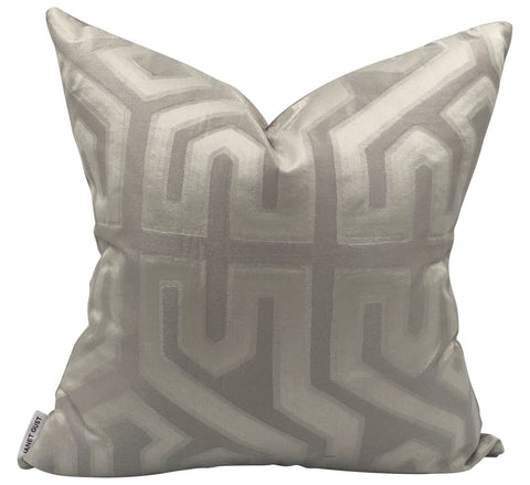 Holly Hunt Great Plains Azteque Silver Pillow