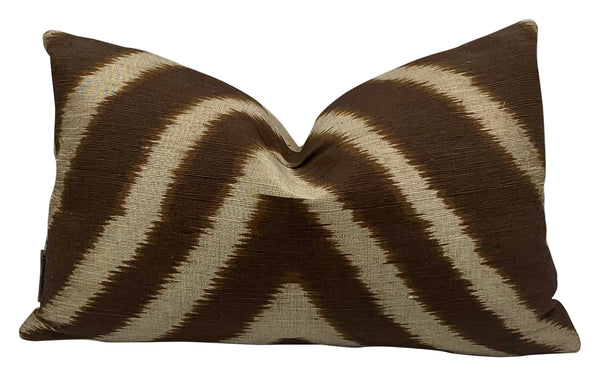 Brown Zebra Linen Pillow