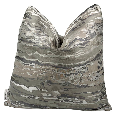 Silver Camouflage Pillow