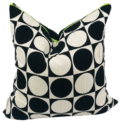 Vintage Verner Panton Geometric Pattern Pillow