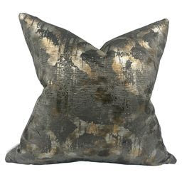 Metalic Watercolor Pillow