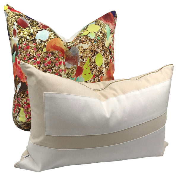 Multi Media Art Dragonfly Pillow