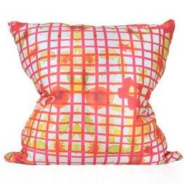 Multi Colored Grid Pillow