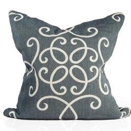 Gray Titanium Crown Scroll Pillow